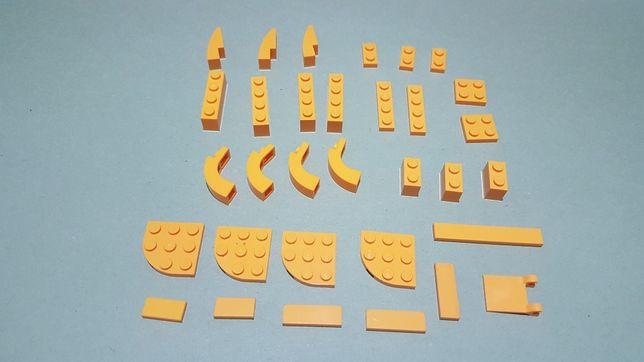 Klocki lego na sztuki, luzem 32szt kolor żółty