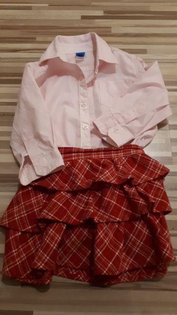 Bluzka koszulowa+ spodniczka 86