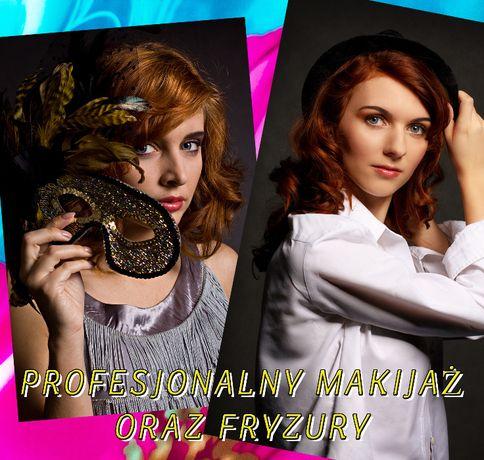 Profesjonalny makijaż z dojazdem do klientki, Wizażystka, Fryzury,ślub