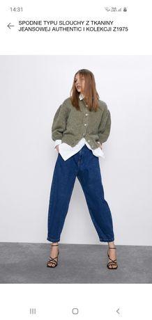 Spodnie jeans slouchy Zara