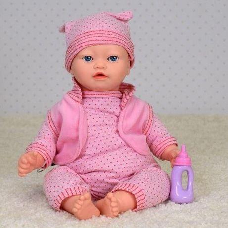 Пупс Малятко 3885 сенсорный кукла интерактивная кушает печенье