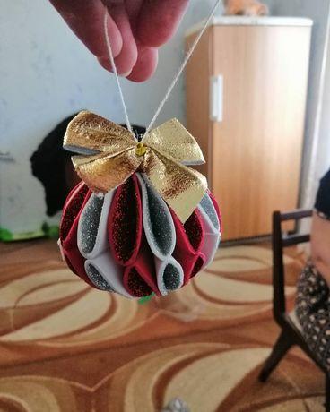 Новогодние игрушки из фоамирана