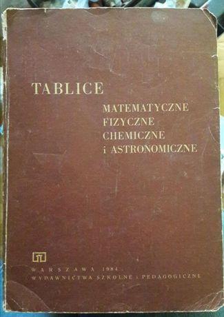 """""""Tablice matematyczne, fizyczne, chemiczne i astronomiczne""""."""