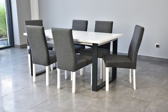 Zestaw Krzesła+Stół wygodne, tapicerowane O K A Z J A