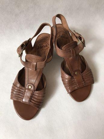 Brązowe sandały SKÓRZANE 39 bardzo wygodne