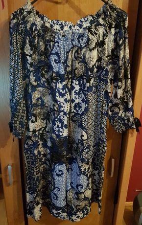 Wzorzysta sukienka polskiej marki Polanka r. One Size