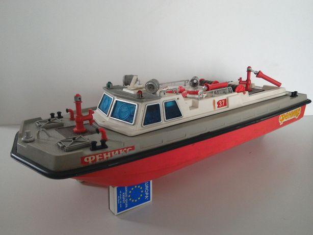 stara zabawka PRL łódź statek straż CCCP baterie RC stare zabawki czz