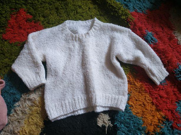 Белый свитер для девочки 80-86+