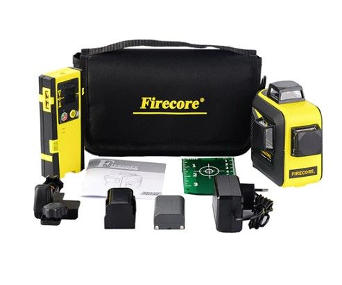 До 60 метров! 3D Firecore F93T-XG + ПРИЕМНИК Лазерный уровень/ нивелир