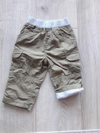 Spodnie 2szt bojówki khaki sztruks beżowe kremowe sportowe zestaw