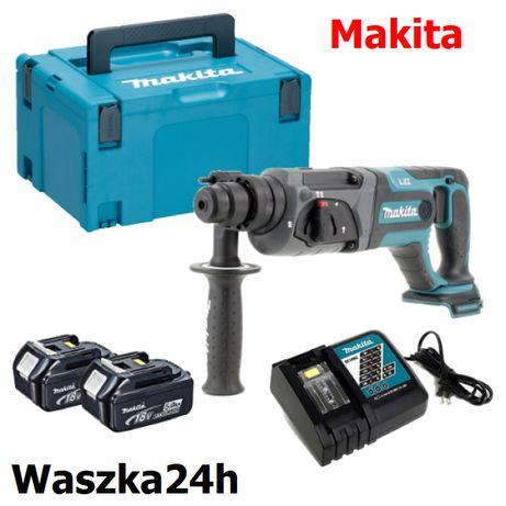 Akumulatorowa młotowiertarka udarowa Makita DHR241RTJ, Makpac, 2x5,0 A