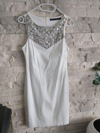Sukienka ecru  XS Zara