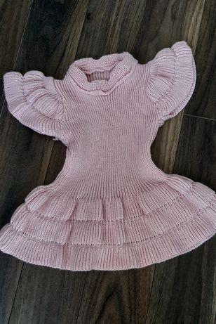 Sukienka dziecięca, tunika, sweter r. 68/74