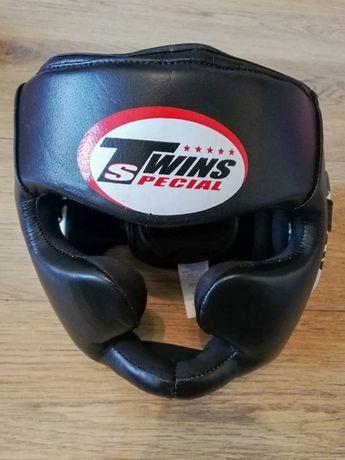Шлем боксерский Twins кожа с полной защитой
