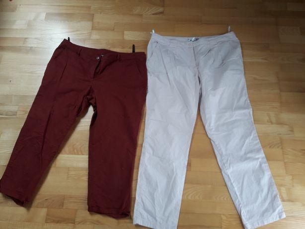 2 pary spodni bonprix r.46 dlug. 3/4 I chino róż blady