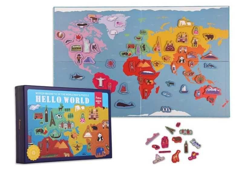 Магнитная карта от Meeder. Интерактивная карта мира.Магниты для детей. Харьков - изображение 1