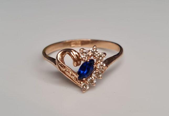 Золотое кольцо СССР с бриллиантами