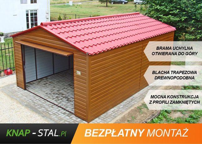 Garaż Blaszany 4x5m - ZŁOTY DĄB - garaże blaszane , wiaty , hale