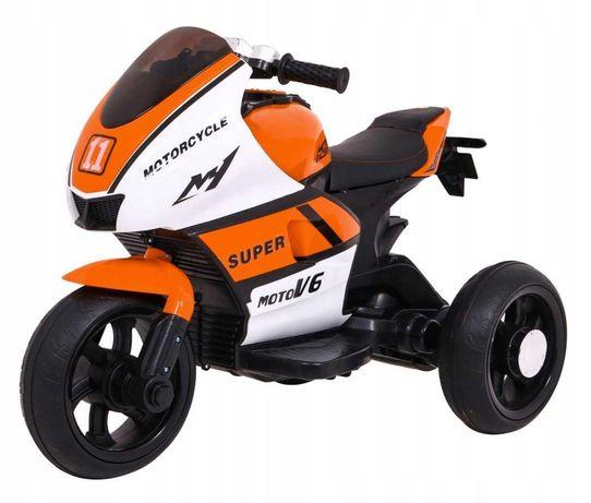 Motor na akumulator SUPER Motorcycle Pomarańczowy HT-5188