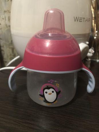 Чашка-непроливайка Philips Avent, с носиком, розовый