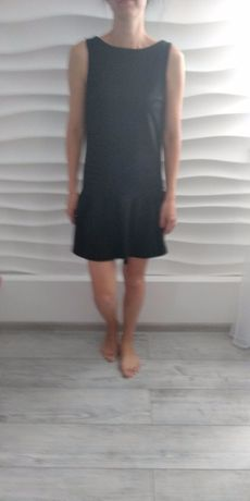 Sukienka dzianina czarna M