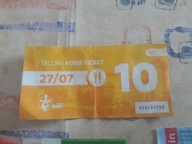 Talon żywieniowy na ŚDM i bilety kom miejskiej