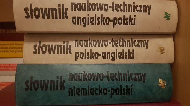 Słownik naukowo techniczny 3 sztuki