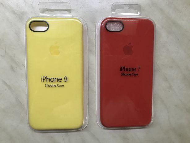 Новый чехол silicone case iphone 7 8 SE 2020 закрытый низ