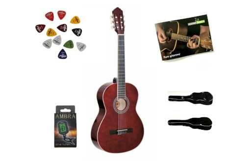 Gitara Klasyczna Ambra Luna 4/4 + Zestaw + Darmowa Wysyłka