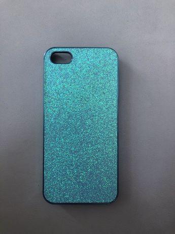 Obudowa na telefon case niebieski brokatowy iPhone 5s