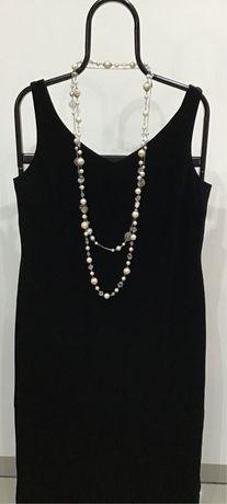 Czarna aksamitna suknia wieczorowa Richards rozm. 44-46