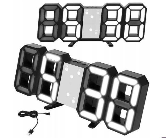 Zegarek budzik elektroniczny kolor biały