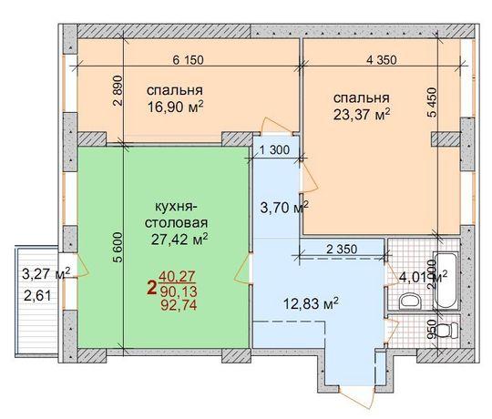 Продам видовую квартиру в новострое, центр города