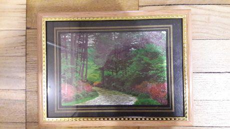 Картина пейзаж в рамке со стеклом эффект 3 D новая