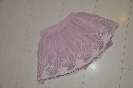 Пышная юбка с фатином и вышивкой