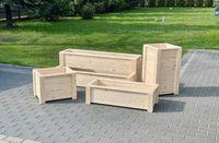 Donice drewniane na wymiar, donica, doniczka drewniana, skrzynki