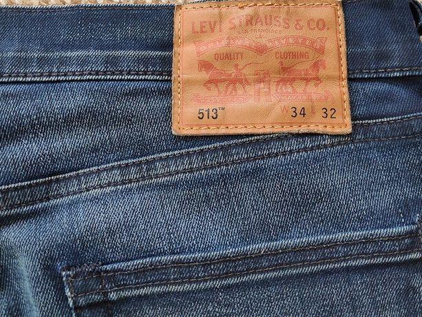 levi's 513 джинсы slim straight W34 L32 оригинал levis