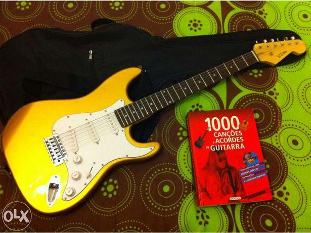 Guitarra Vision Gold + livro 1000 cações