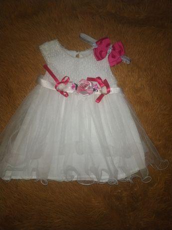 Платье детское на пол годика