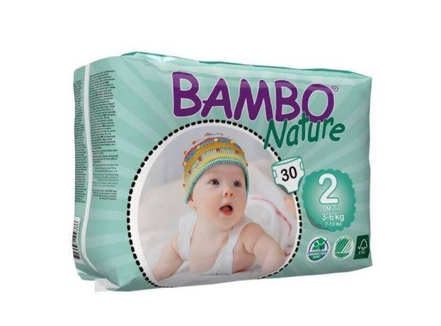 Bambo nature 2 paczki 3-6kg pieluszki ekologiczne bambusowe
