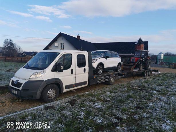 Auto-Holowanie Transport Maszyn Rolniczych Pomoc Drogowa Laweta