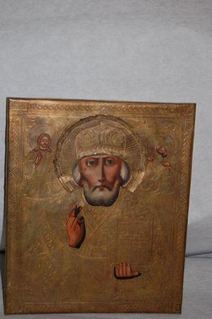 Ikona prawosławna w koszulce , ręcznie wykonanej , wym. 20x15 cm.