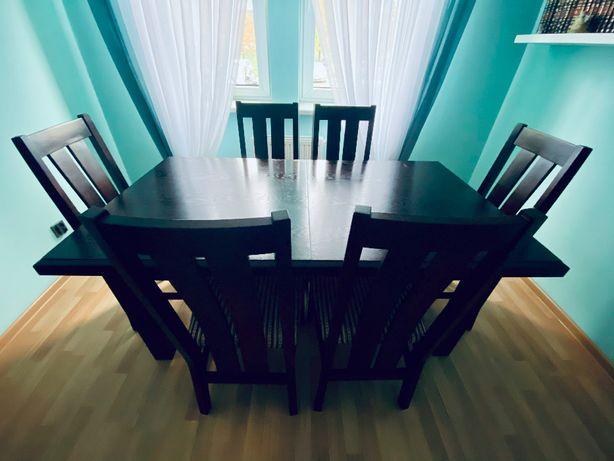 Stół do jadalni + 6 krzeseł