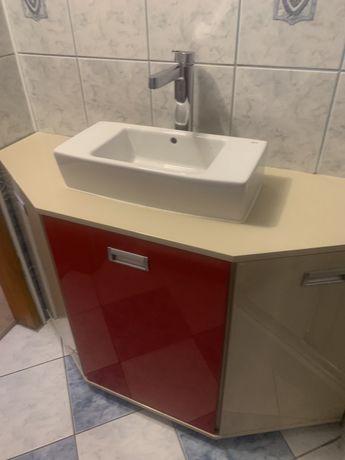 Szafka lazienkowa pod umywalke z zestawem