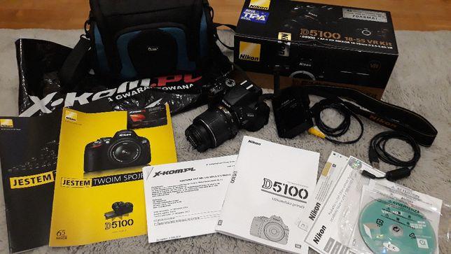 aparat Nikon D5100+ nikkor 18-55- zestaw sprzedażowy+ GRATIS torba