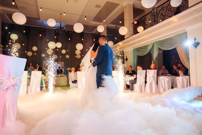Тяжелый дым, низкий дым на свадьбу