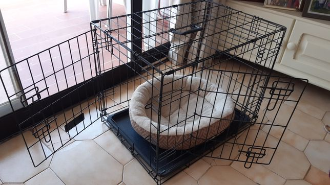 Jaula / Gaiola + Cama para Cão