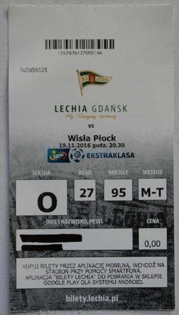 LECHIA GDAŃSK - wymienię pamiątki - bilety,programy ,odznaki itp