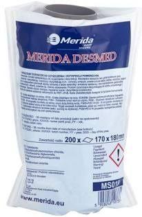Nasączone ściereczki do czyszczenia i dezynfekcji powierzchni Merida.