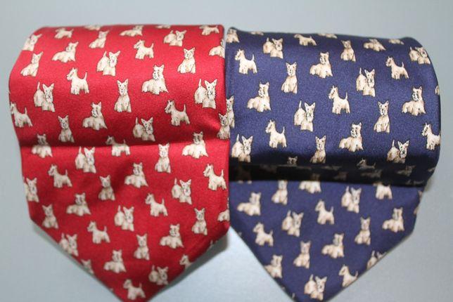 Zestaw: krawaty dla hodowcy, właściciela West White Highland Terrier